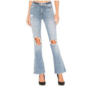 MOTHER Runaway Weekender Blue Jeans Helter Skelter